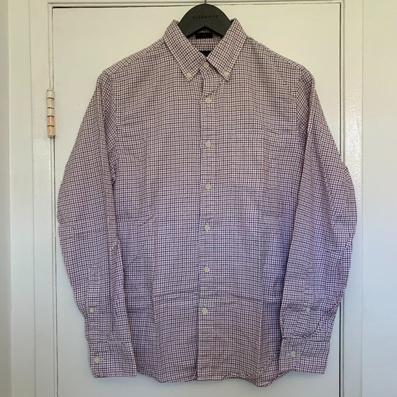 Pre-owned Men's J Crew tattersall plaid Flannel Size Small